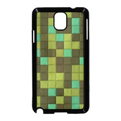 Green Tiles Pattern Samsung Galaxy Note 3 Neo Hardshell Case by LalyLauraFLM