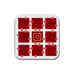 Martain Coaster Red Drink Coaster (square) by TheDean