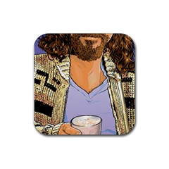 White Russian Blue Drink Coaster (square) by TheDean