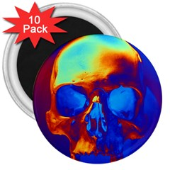 Skull 3  Magnets (10 Pack)  by icarusismartdesigns