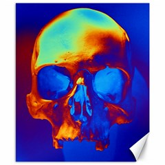 Skull Canvas 8  X 10  by icarusismartdesigns