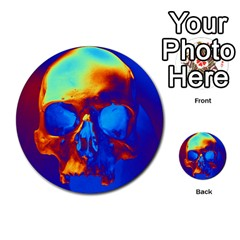 Skull Multi Purpose Cards (round)  by icarusismartdesigns
