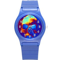 Skull Round Plastic Sport Watch (s) by icarusismartdesigns