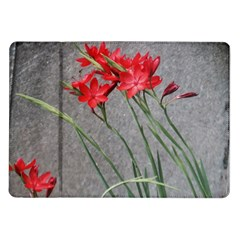 Red Flowers Samsung Galaxy Tab 10 1  P7500 Flip Case by DeneWestUK