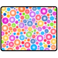 Candy Color s Circles Double Sided Fleece Blanket (medium)  by KirstenStar