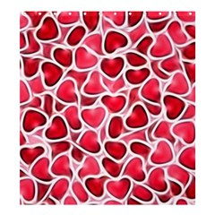Candy Hearts Shower Curtain 66  X 72  (large)  by KirstenStar