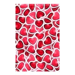 Candy Hearts Shower Curtain 48  X 72  (small)  by KirstenStar