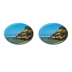 Tropical Beach Of Tayrona National Park Cufflinks (oval) by dflcprints