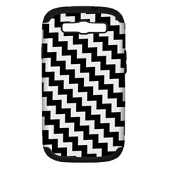 Black And White Zigzag Samsung Galaxy S Iii Hardshell Case (pc+silicone)