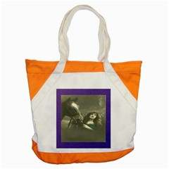 Vintage Woman With Horse Accent Tote Bag  by LokisStuffnMore
