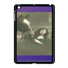 Vintage Woman With Horse Apple Ipad Mini Case (black) by LokisStuffnMore