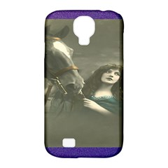 Vintage Woman With Horse Samsung Galaxy S4 Classic Hardshell Case (pc+silicone) by LokisStuffnMore