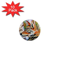 Wolfpastel 1  Mini Magnet (10 Pack)  by LokisStuffnMore