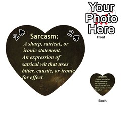 Sarcasm  Playing Cards 54 (heart)