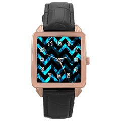 Zigzag Rose Gold Watches by designmenowwstyle