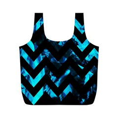 Zigzag Full Print Recycle Bags (m)  by designmenowwstyle