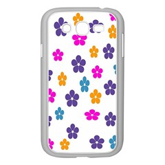 Candy Flowers Samsung Galaxy Grand Duos I9082 Case (white)