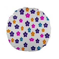 Candy Flowers Standard 15  Premium Flano Round Cushions
