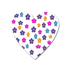 Candy Flowers Heart Magnet