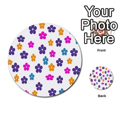 Candy Flowers Multi Purpose Cards (round)  by designmenowwstyle