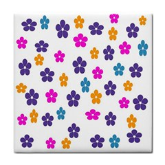 Candy Flowers Face Towel