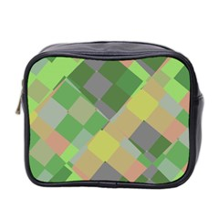Squares And Other Shapes Mini Toiletries Bag (two Sides)