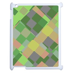 Squares And Other Shapes Apple Ipad 2 Case (white) by LalyLauraFLM