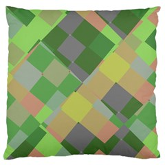 Squares And Other Shapes Large Cushion Case (two Sides)