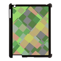 Squares And Other Shapes Apple Ipad 3/4 Case (black) by LalyLauraFLM
