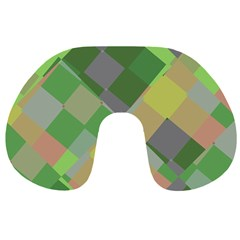 Squares And Other Shapes Travel Neck Pillow