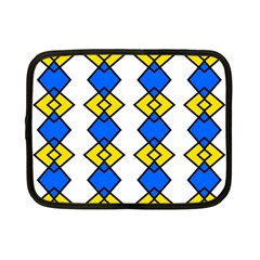 Blue Yellow Rhombus Pattern Netbook Case (small) by LalyLauraFLM
