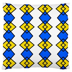 Blue Yellow Rhombus Pattern Large Cushion Case (two Sides) by LalyLauraFLM