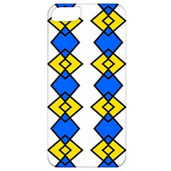 Blue Yellow Rhombus Pattern Apple Iphone 5 Classic Hardshell Case by LalyLauraFLM
