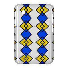 Blue Yellow Rhombus Pattern Samsung Galaxy Tab 2 (7 ) P3100 Hardshell Case
