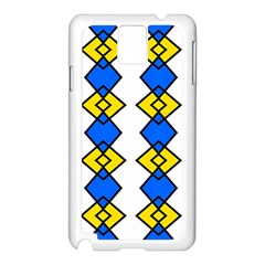 Blue Yellow Rhombus Pattern Samsung Galaxy Note 3 N9005 Case (white) by LalyLauraFLM