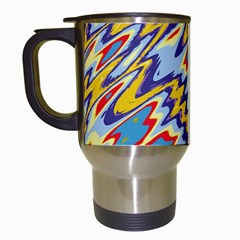 Colorful Chaos Travel Mug (white) by LalyLauraFLM