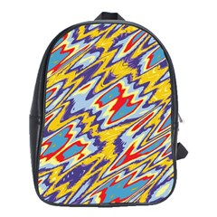 Colorful Chaos School Bag (large) by LalyLauraFLM