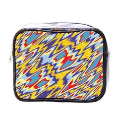 Colorful Chaos Mini Toiletries Bag (one Side) by LalyLauraFLM