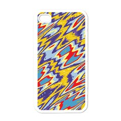 Colorful Chaos Apple Iphone 4 Case (white) by LalyLauraFLM