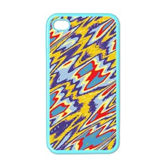 Colorful Chaos Apple Iphone 4 Case (color) by LalyLauraFLM