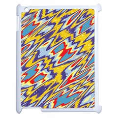 Colorful Chaos Apple Ipad 2 Case (white) by LalyLauraFLM