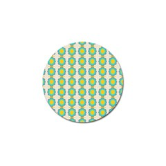 Blue Flowers Pattern Golf Ball Marker (10 Pack) by LalyLauraFLM