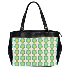Blue Flowers Pattern Oversize Office Handbag (2 Sides) by LalyLauraFLM