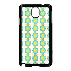 Blue Flowers Pattern Samsung Galaxy Note 3 Neo Hardshell Case by LalyLauraFLM