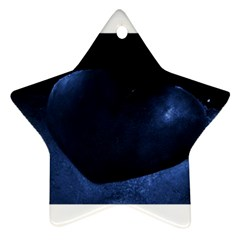 Blue Heart Collection Ornament (star)  by timelessartoncanvas