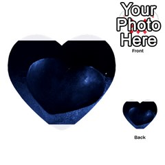 Blue Heart Collection Multi Purpose Cards (heart)  by timelessartoncanvas