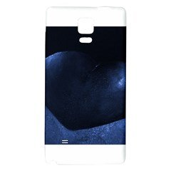 Blue Heart Collection Galaxy Note 4 Back Case by timelessartoncanvas