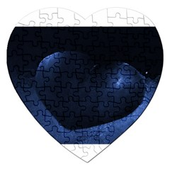 Blue Heart Collection Jigsaw Puzzle (heart) by timelessartoncanvas