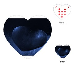 Blue Heart Collection Playing Cards (heart)  by timelessartoncanvas