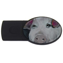 Piggy No  1 Usb Flash Drive Oval (4 Gb)  by timelessartoncanvas